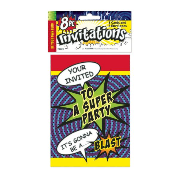 Super Hero Party Invites Party Tableware